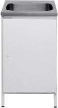 Contura CAB 5 Tvättbänk vit, med förvaringsskåp