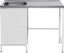 Contura CAB 12 Tvättbänk vit, med plats för tvättmaskin Vänster