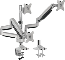 "LogiLink Monitorarm trippel 13-32"" gaslift - aluminium"