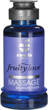Swede Fruity Love: Värmande Massageolja Blåbär/Svartvinbär, 100 ml