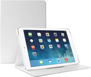 Puro Booklet Slim Case iPad Air 2 w/magnet & stand up Hvid