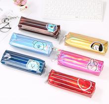 1Pcs Kawaii Pencil Case Cartoon laser Gift Estuches School Pencil Box Pencilcase School Supplies Stationery