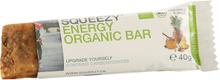 Squeezy Energy Organic Bar 40g Utengluten- og laktoseinnhold!