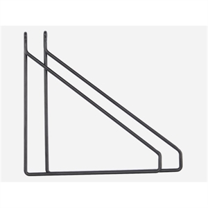 House Doctor - Hyldebærer/Hyldeknægte - sæt a 2 stk., sort, 25,5x26 cm