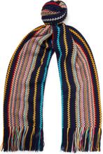 Missoni - Fringed Striped Wool-blend Scarf - Multi