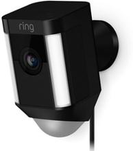 Ring Spotvalo Kamera, Langallinen - Musta Musta