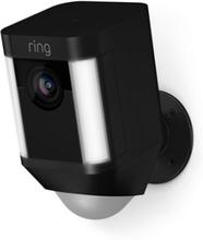 Ring Spotlight Kamera, Jossa On Akku, Musta Musta