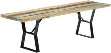 vidaXL Bänk 160 cm massivt återvunnet trä