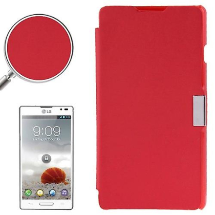 Konig Mobiltelefon täcker fallet för LG Optimus L9 / P760 borstad röd
