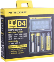 Nitecore D4 Multi LCD Batterilader 18650 14500 mm