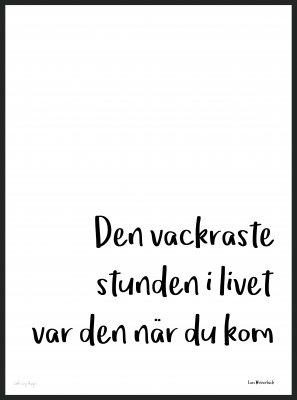 """Poster """"Den vackraste stunden"""" (Storlek: 30x40 cm)"""