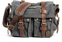 MUCHUAN Canvas Leather Men Messenger Bags I AM LEGEND Will Smith Big Satchel Shoulder Bags Male Laptop Briefcase Travel Handbag