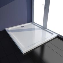 vidaXL Rektangulær ABS brusebads bakke, hvid, 80 x 90 cm