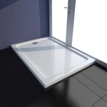 vidaXL Rektangulärt ABS duschkar vit 70 x 100 cm