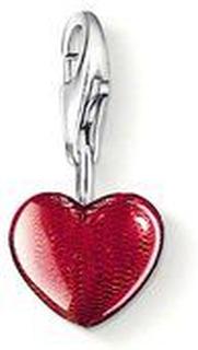 Thomas Sabo, Berlock Hjärta röd emalj 9 mm 925 Sterling Silver