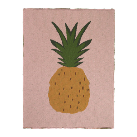 Ferm Living Fruiticana Pineapple Blanket