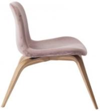 Goose Lounge Chair - Velvet: Frame-Natural Fabric-Velvet-Rosewood 1670