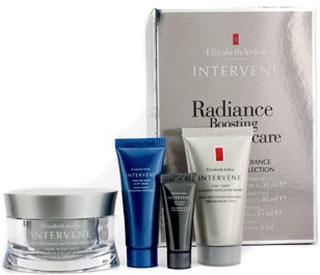 Elizabeth Arden Intervene Radiance Boosting Collection: Moisture Cream 50ml + Cleanser 30ml + Night Cream 15ml + Eye Cream 5ml