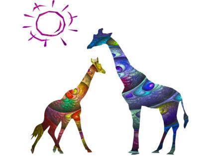 abstract giraffes
