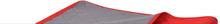 vidaXL Dubbelsidigt vadderat överkast röd och grå 230x260 cm