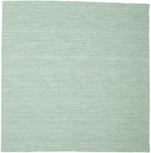 Kelim loom - Mint Grön matta 200x200 Modern, Kvadratisk Matta