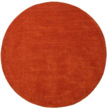 Handloom - Rost / Röd matta Ø 150 Modern, Rund Matta