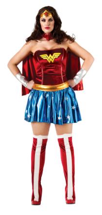 Kostume Wonder Woman til kvinder stor størrelse - Vegaoo.dk