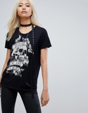 Religion Oversized T-Shirt With Embellished Trim -
