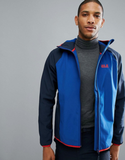 Jack Wolfskin Zenon Softshell Jacket in Royal Blue - Blue