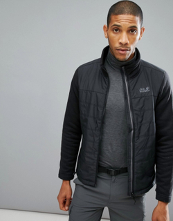 Jack Wolfskin Caribou Crossing Jacket in Black - Black