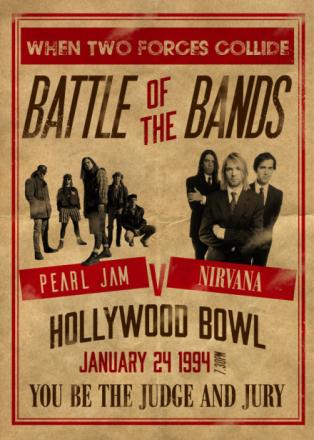 Pearl Jam v Nirvana