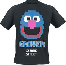 Sesam Stasjon - Grover 8 Bit -T-skjorte - svart