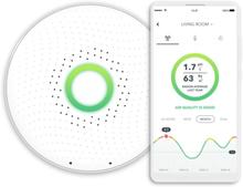 Airthings Wave radon- og luftkvalitetsmåler i hvid