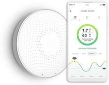 Airthings Wave Plus radon- og luftkvalitetsmåler i hvid