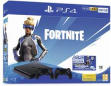 PlayStation 4 Slim Black - 500GB (Fortnite Neo Versa - 2 Dual Shock)