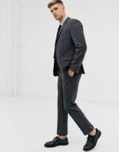 Calvin Klein – Strukturvävda byxor med smal passform-Grå