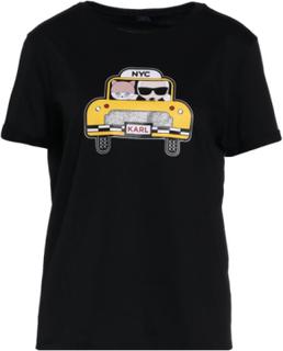KARL LAGERFELD KARL CHOUPETTE NYC TAXI Tshirts print black