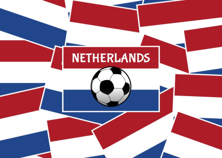 Netherlands Flag Football. This design features a layered pattern of t