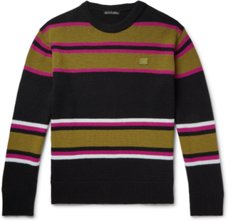 Nema Striped Wool Sweater - Black