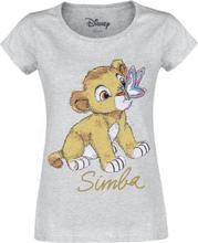 The Lion King - Simba - Baby -T-skjorte - gråmelert