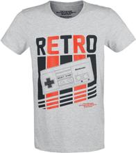 Nintendo - NES - Nintendo Entertainment System - Retro Controller -T-skjorte - gråmelert