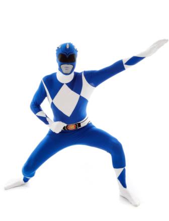 Blå kostume Morphsuit Power Rangers voksen - Vegaoo.dk