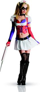 Maskeraddräkt Harley Quinn sjuksköterska Arkham City vuxen