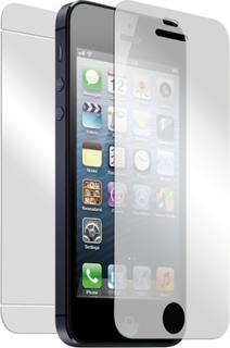 Displayskydd iphone 5/5s fram/baksida +putsduk 2-pack