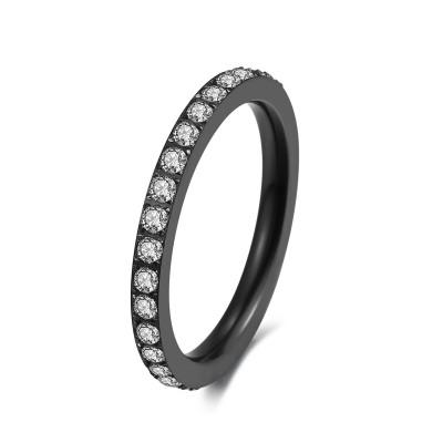 Kranz 1 Reihe Ring Black & White 50