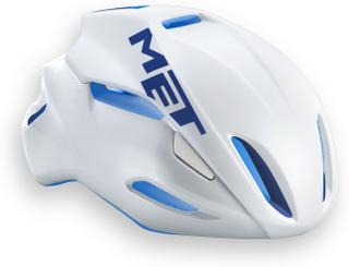 Met Manta aero hjälm vit/blå