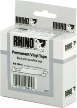 DYMO RhinoPRO merkkausteippi vinyyli 12mm valkoinen/musta teksti 5.5m