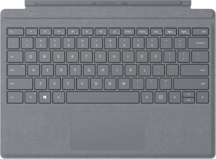 Surface Pro Signature Type Cover -suoja – platina