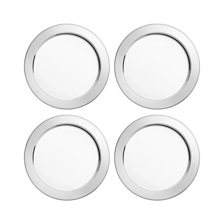 Iittala Sarpaneva stål glassbrikker 4-pk