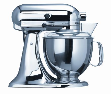KitchenAid Artisan Kjøkkenmaskin Krom - 4,8 + 3 liter